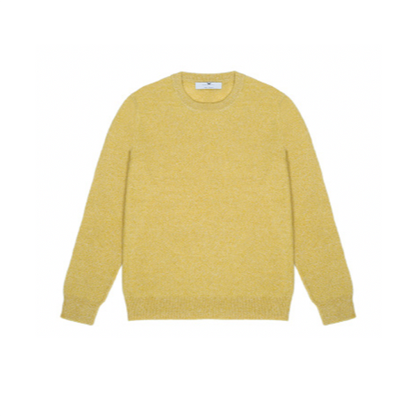 Mens Round Neck Jumper in Yellow