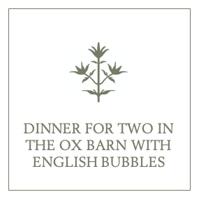 Dinner for Two in the Ox Barn with English Bubbles