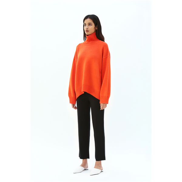 Oversized Jumper-Orange