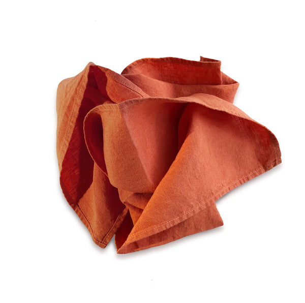 Orange Rust Linen Napkin