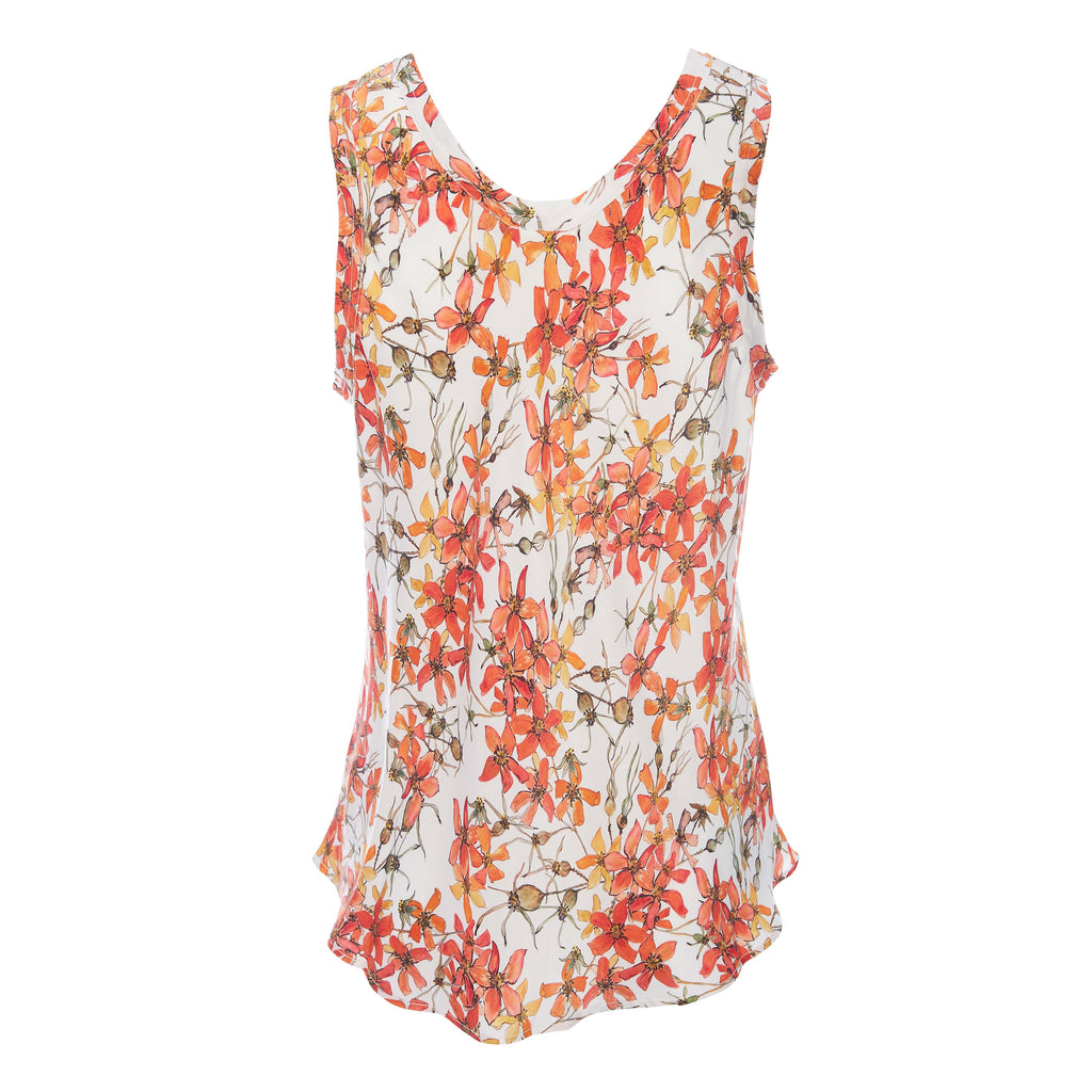 Silk Camisole Top in Wild Rose
