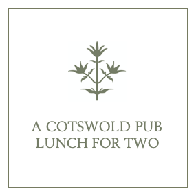 A Cotswold Pub Lunch for Two with Tour of Thyme's Gardens