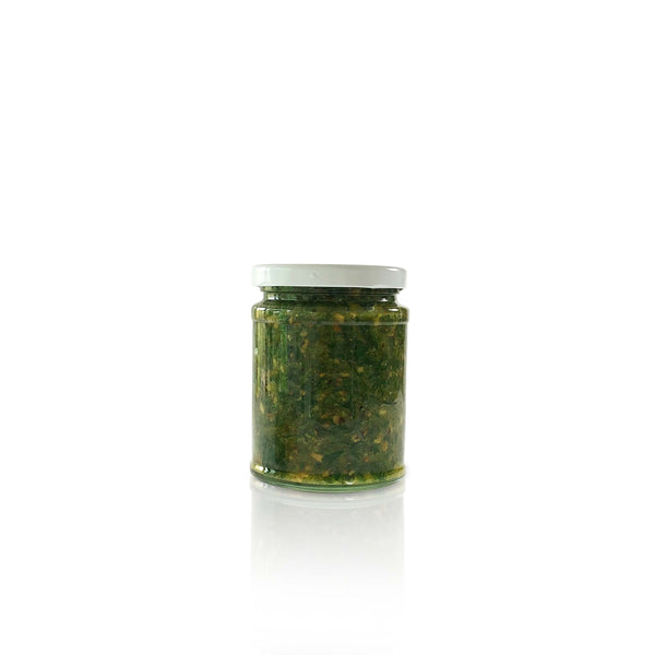 Homemade Lovage & Walnut Pesto