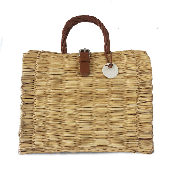 Natural Handwoven Reed Bag