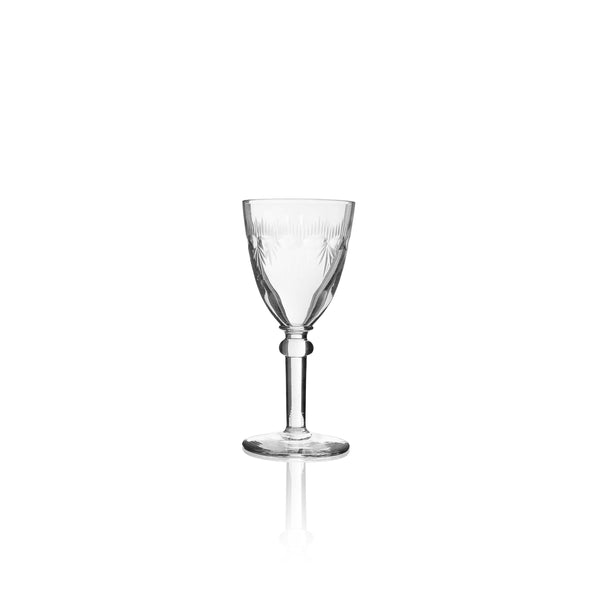 Engraved French Crystal Aperitif Glasses