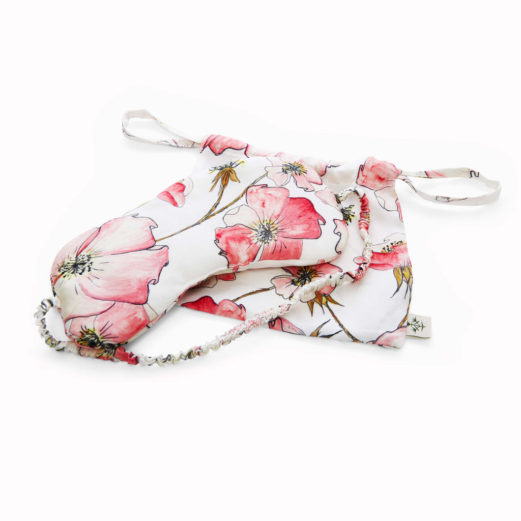 Silk Sleep Mask in Pink Rose