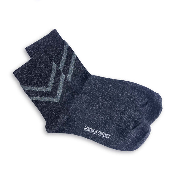 Selina Chevron Socks in Black