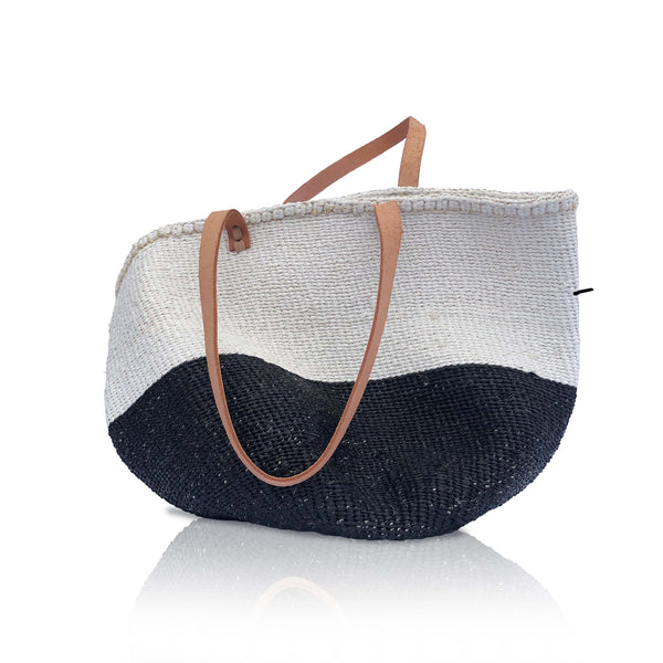 Shoulder bag in White and Black
