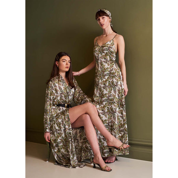 Silk Dress in Fern