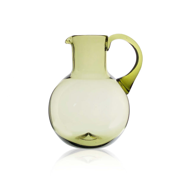 Simple Green Glass Water Jug