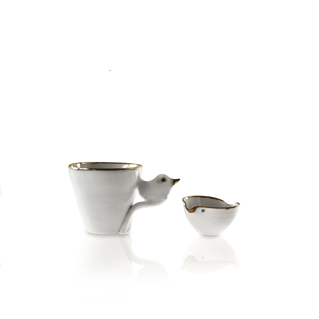 Tiny Ceramic Bird Creamer