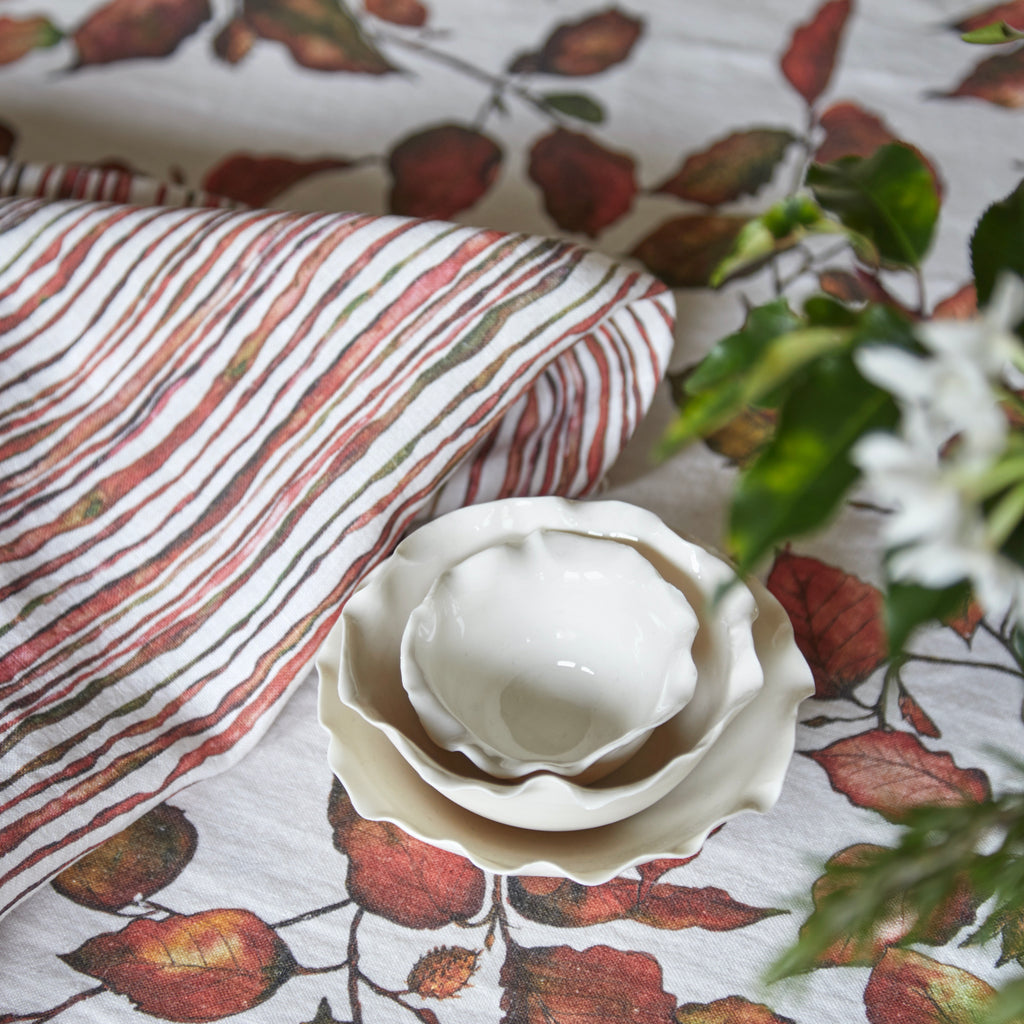 Copper Beech Linen Table Cloth