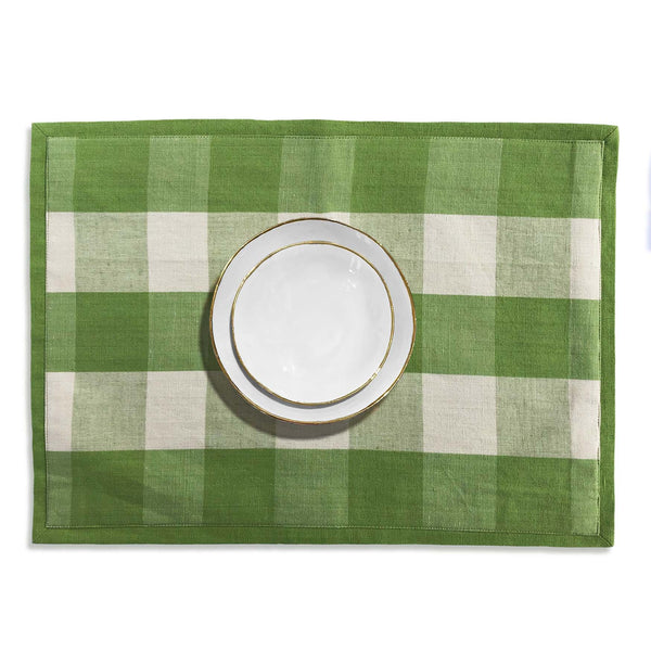Green Check Thyme Placemat