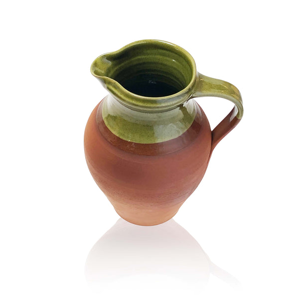 Medium Thyme Farmhouse Water Jug in Green
