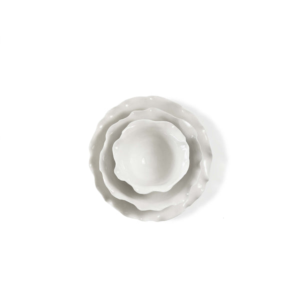 Frilly Ceramic Bowl