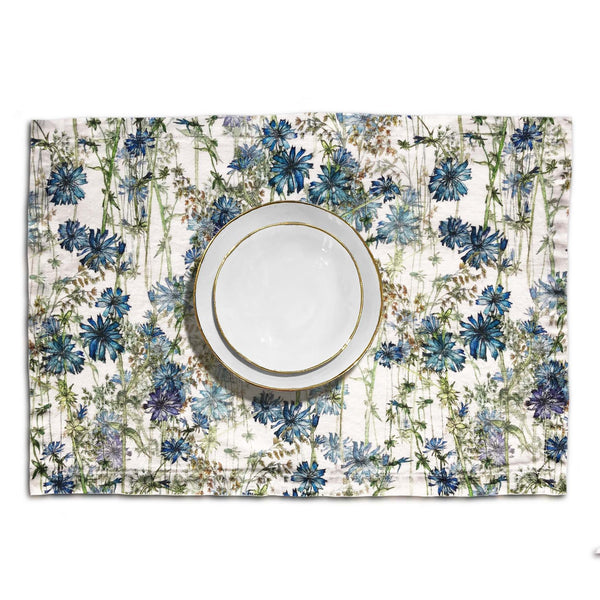 Wild Chicory Linen Placemat