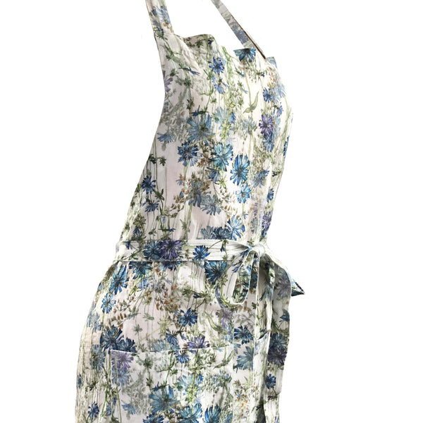 Wild Chicory printed Linen Apron