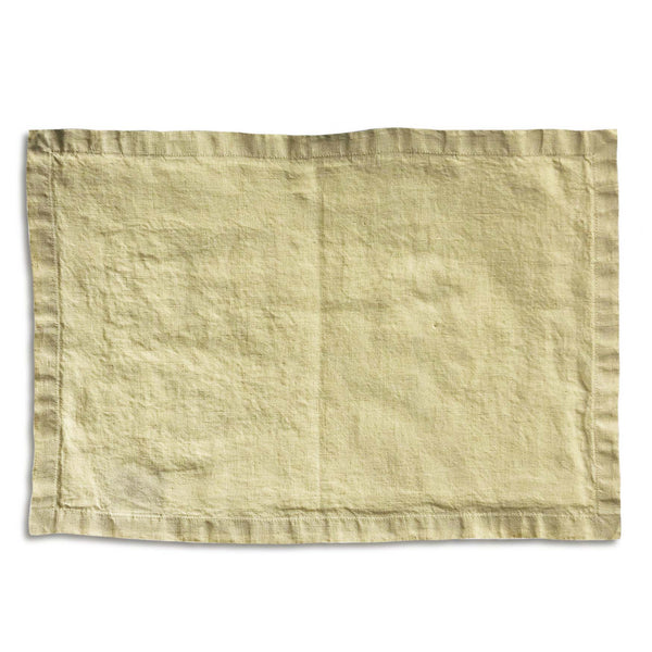French Vanilla Linen Placemat