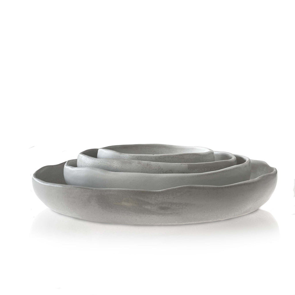 Stoneware Nesting Dishes with Shallow Side