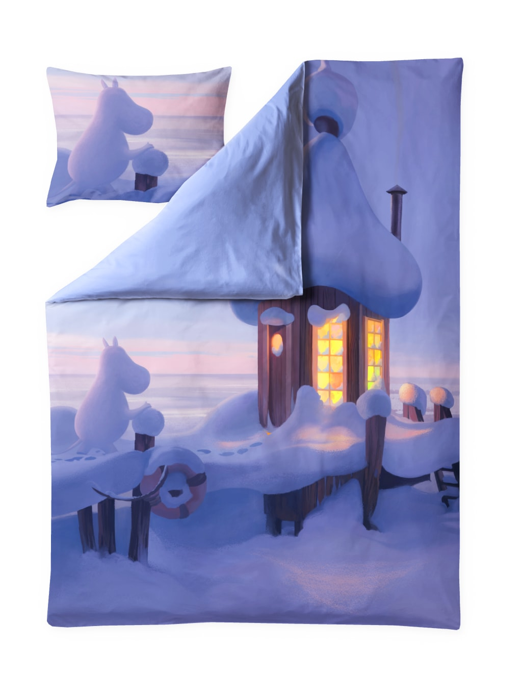Moominvalley's winter Sateen Duvet Cover Set