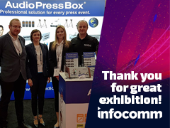 AudioPressBox am InfoComm 2018
