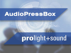 AudioPressBox at prolight+sound 2017