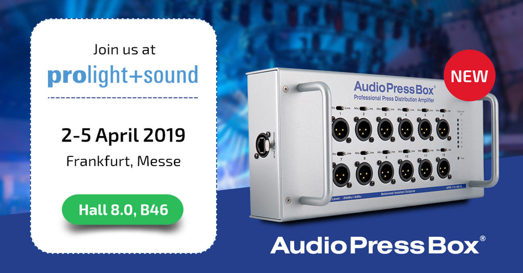 AudioPressBox at Prolight+Sound 2019
