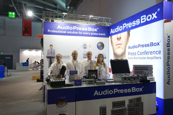 AudioPressBox Team at Prolight+sound 2017 exhibition in Frankfurt