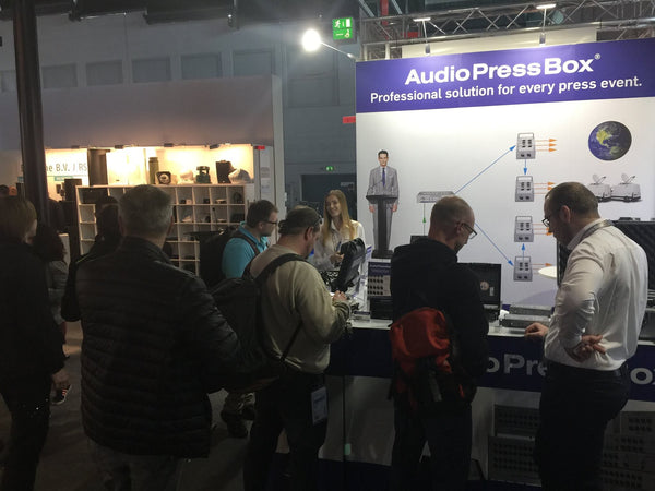 AudioPressBox at Prolight+sound 2017 exhibition in Frankfurt