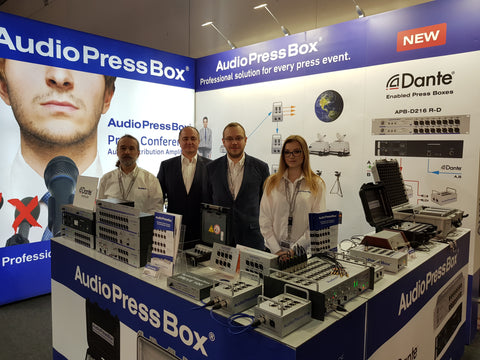 AudioPressBox team at Prolight+sound 2018