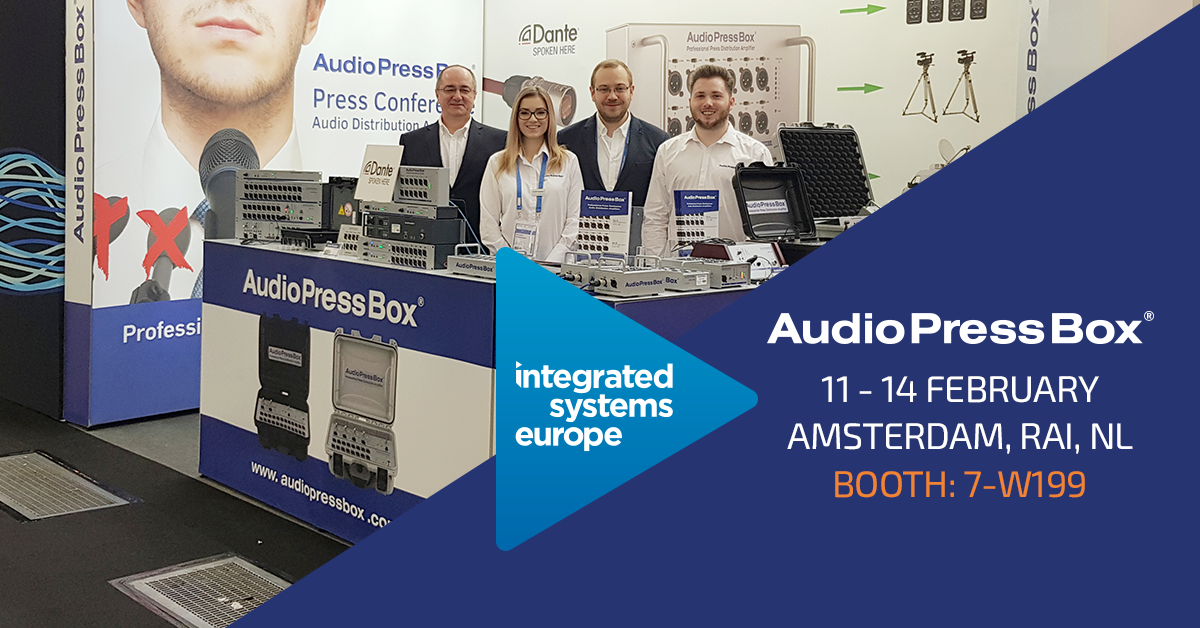 AudioPressBox at ISE 2020 booth number : 7-W199