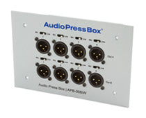 AudioPressBox-008 IW-EX, Mic and amp set