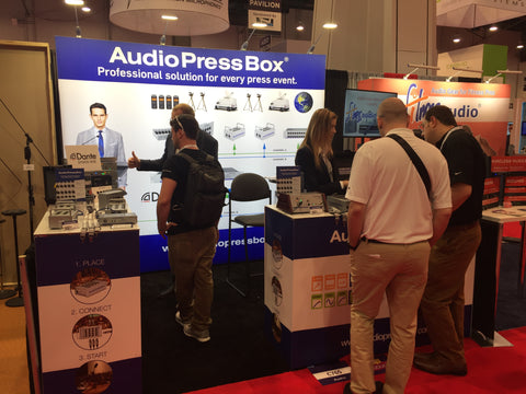 AudioPressBox_booth_at_InfoComm2018