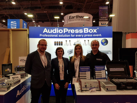 AudioPressBoxteam_at_InfoComm2018