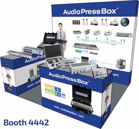 AudioPressBox booth 4442 at InfoComm 2019