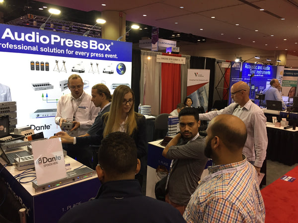 First Dante-enabled AudioPressBox at InfoComm 2017