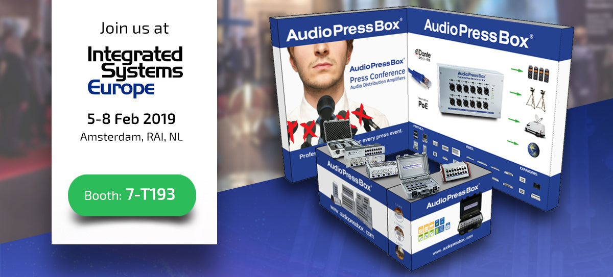 AudioPressBox at ISE 2019 in Amsterdam