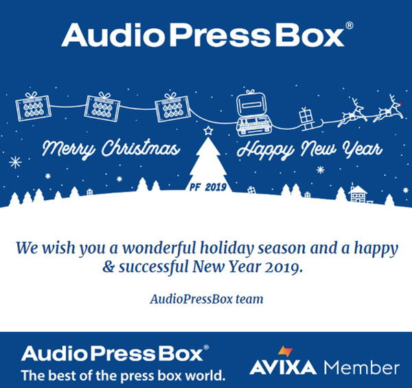 AudioPressBox Merry Christmas 2019