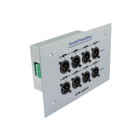 Pressesplitter APB-008 IW-EX, Passive, Fixed installation, Expander, 8 Line/MIC outputs