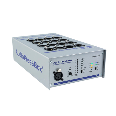 AudioPressBox APB-116 SB, Active, Portable, Audio Splitter, 1 Line input, 16 Line/MIC outputs