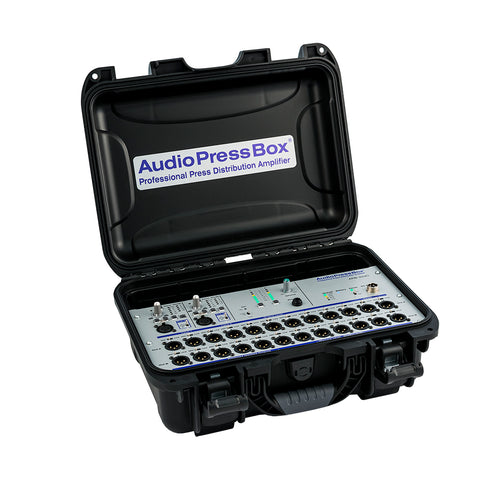 AudioPressBox APB-224 C, Active, Portable, Audio Splitter, 2 Line/MIC inputs, 24 Line/MIC outputs