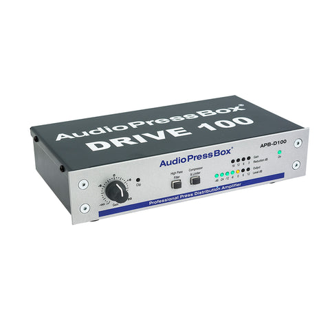 AudioPressBox APB-D100, Active, Portable, Audio Splitter, 1 Line input, 2 Line/MIC outputs