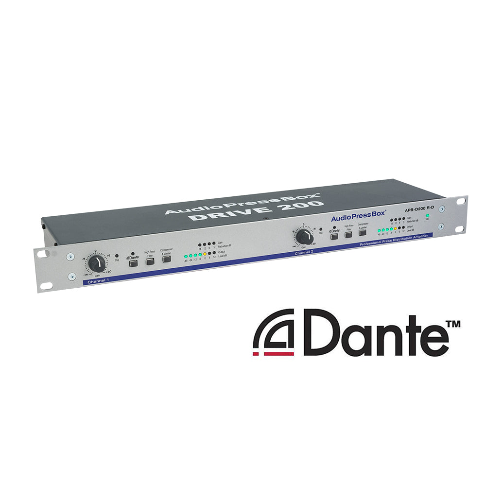 Apb D200 R D 19 Rack Dante Interface 2 Channels Audiopressbox Bits Datas Circuit For Audio Splitter Active Fixed Installation Line