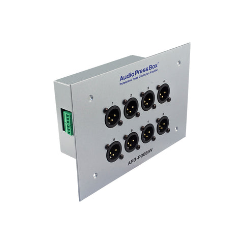 AudioPressBox APB-P008 IW-EX, Passive, Fixed installation, Expander, 1 Line input, 8 MIC outputs