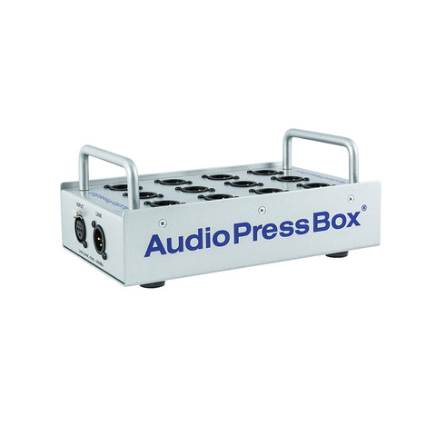 AudioPressBox APB-P112 SB, Passive, Portable, Audio Splitter, 1 Line input, 12 MIC outputs