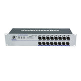 Press Box APB-D116 R-D, Active Fixed installation, Audio Splitter, 1 Line/Dante, 16 Line/MIC outputs