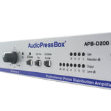 Splitter Audio Actif APB-D200 R-D, Active, Fixed installation, Audio Splitter, 2 Line inputs, 4 Outputs