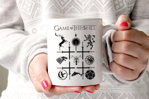 Game of thrones houses mug