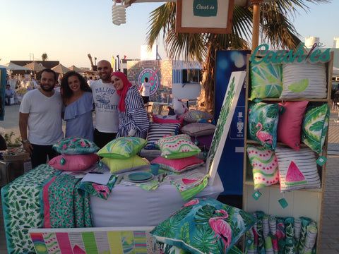 coushies team at the summer shopping bazaar