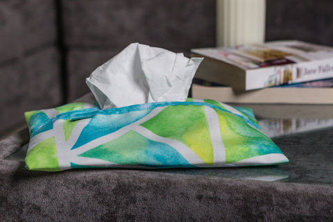 Triangles Tissue Box